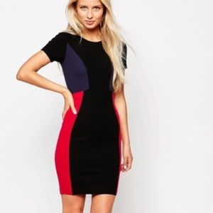 French Connection Manhattan Color Block Dress!